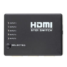 USB 5 Porto 1080p HDMI Switch Splitter Switcher Selector Switcher HUB Com Controle Remoto IR Adaptet HDTV Tablet pc Telefone USB Hubs-L909(China)