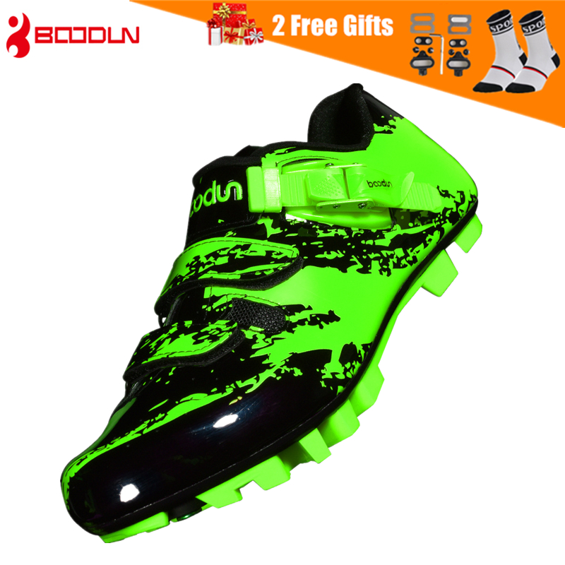 BOODUN 2019 New Men's Cycling Shoes MTB Mountain Bike Shoes with Nylon Soles Breathable SPD Lock Riding Bicycle Racing Shoes
