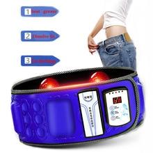 110 240V elektryczny pas podtrzymujący brzuch na podczerwień dla schudnąć Fitness masażer wibracyjny brzuch spalić tłuszcz sprzęt diety
