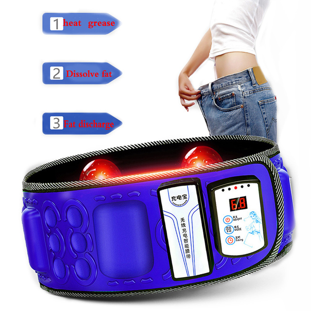 Correia abdominal infravermelha elétrica da cintura de 110 240v para perder peso massageador da aptidão vibração barriga queimar gordura dieta equipamento