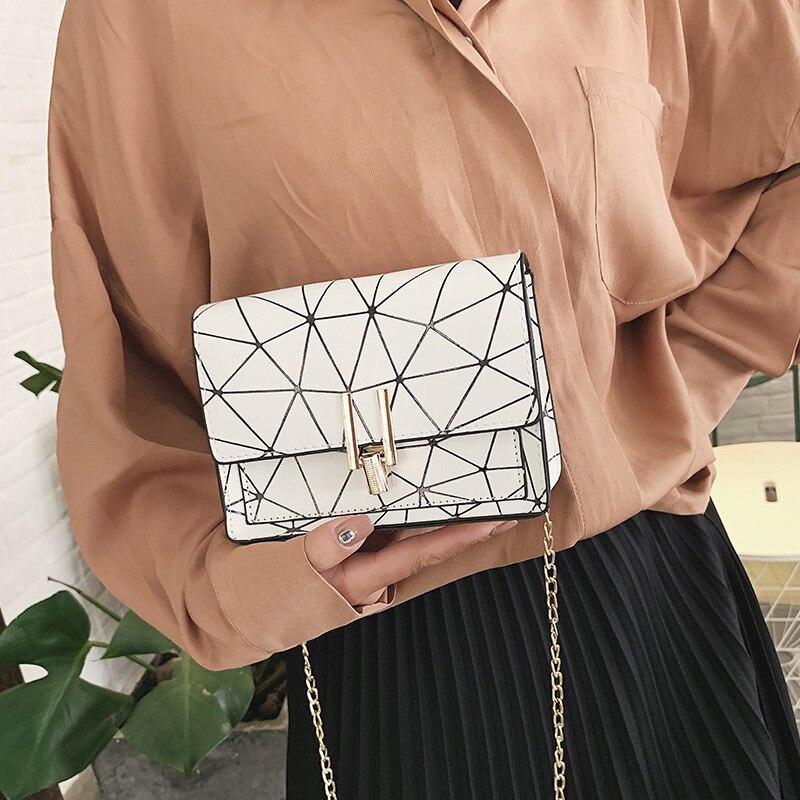 Women Fashion Shoulder Messenger Bags Ladies Geometric Plaid Crossbody Handbag Female Mini Flap Bag New Korean Style Tote SS0425 (9)