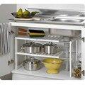 Новый многофункциональный 2-уровневый расширяемый органайзер для хранения на полке  регулируемая кухонная раковина из нержавеющей стали
