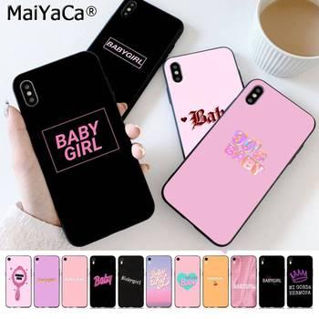 Maiyaca bebê babygirl mel linha texto arte pintada capa de telefone para o iphone se 2020 11 pro xs max 8 7 6 s plus x 5 5S se xr