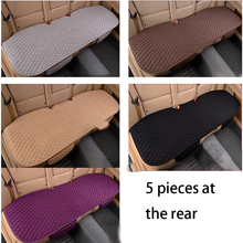 car seat cover four seasons before and after diamond-shaped linen cushion breathable protection pad auto parts universal size