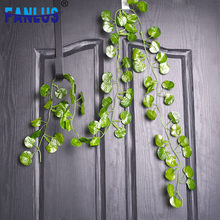 2.06M/Bag Artificial Plants Greenery Home Decoration Accessories Planta Artificiales Para Decoracion Green Leaf Faux Plant Decor(China)