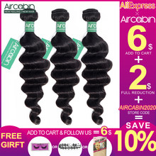 Aircabin Hair Loose Deep Wave Bundles Peruvian Hair Bundles Remy Human Hair Extensions Natural Color More Wave Fast Shipping(China)