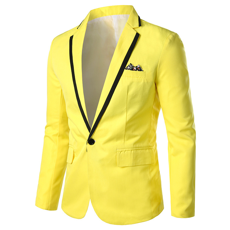 Suit 19 Autumn New Style Slim Fit Korean-style Candy-Colored One-Button Versatile Men's Business Youth Tops