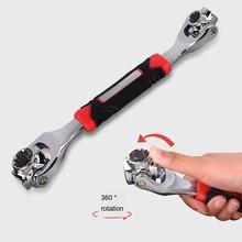 Multifunctional Socket Wrench 8 In 1 360 Degree Rotation Universal Ratchet Bolt Plum  Car Household  Repair Tool
