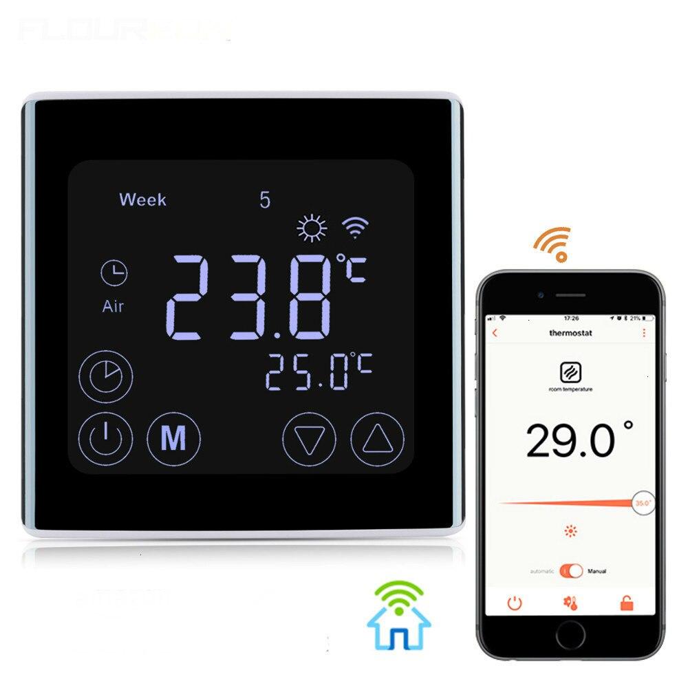 Thermostats WIFI ecran tactile LCD régulateur de température programmation chauffage Thermostat chauffage par le sol chauffage électrique