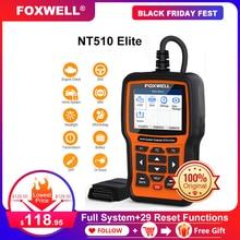FOXWELL NT510 エリート OBD OBD2 診断ツール ABS 、 SRS エアバッグクラッシュデータ SAS EPB ためのオイルのリセット BMW 現代起亜 ODB OBD 2 スキャナ
