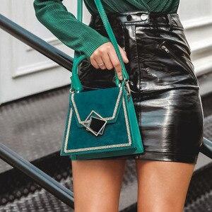 Image 2 - Elegantปักผู้หญิงกระเป๋าสะพายสำนักงานLady Retroหนังกระเป๋าถือหญิงฤดูใบไม้ร่วงเก๋เรขาคณิตกระเป๋า
