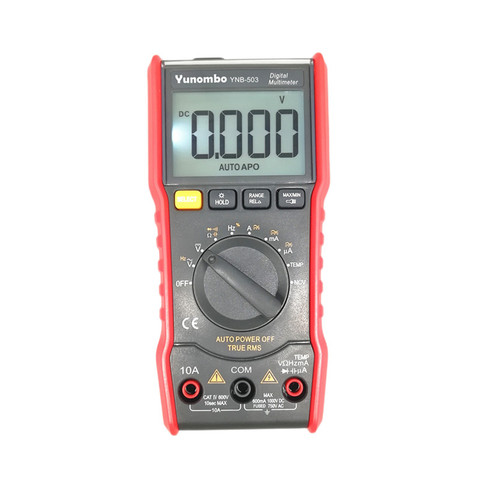 Medidor de Tensão Luz do Flash Yunombo Multímetro Digital 6000 Counts Auto Ranging ac – dc Back Light Tela Grande Ynb-501 Ncv