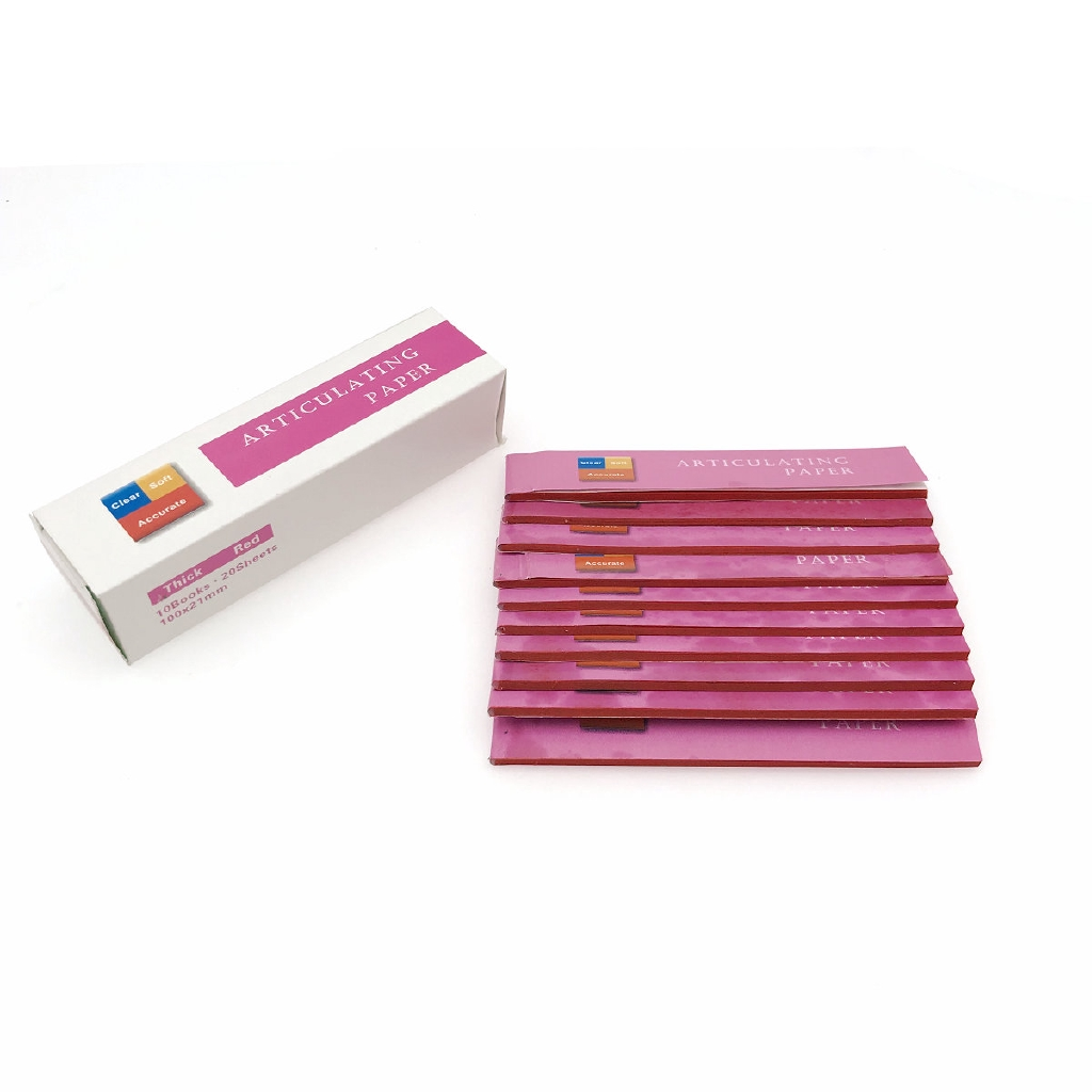 Blue/Red Dental Clinc Articulating Paper Strips Thick Strips 20 sheets/book 10 books/Box-3