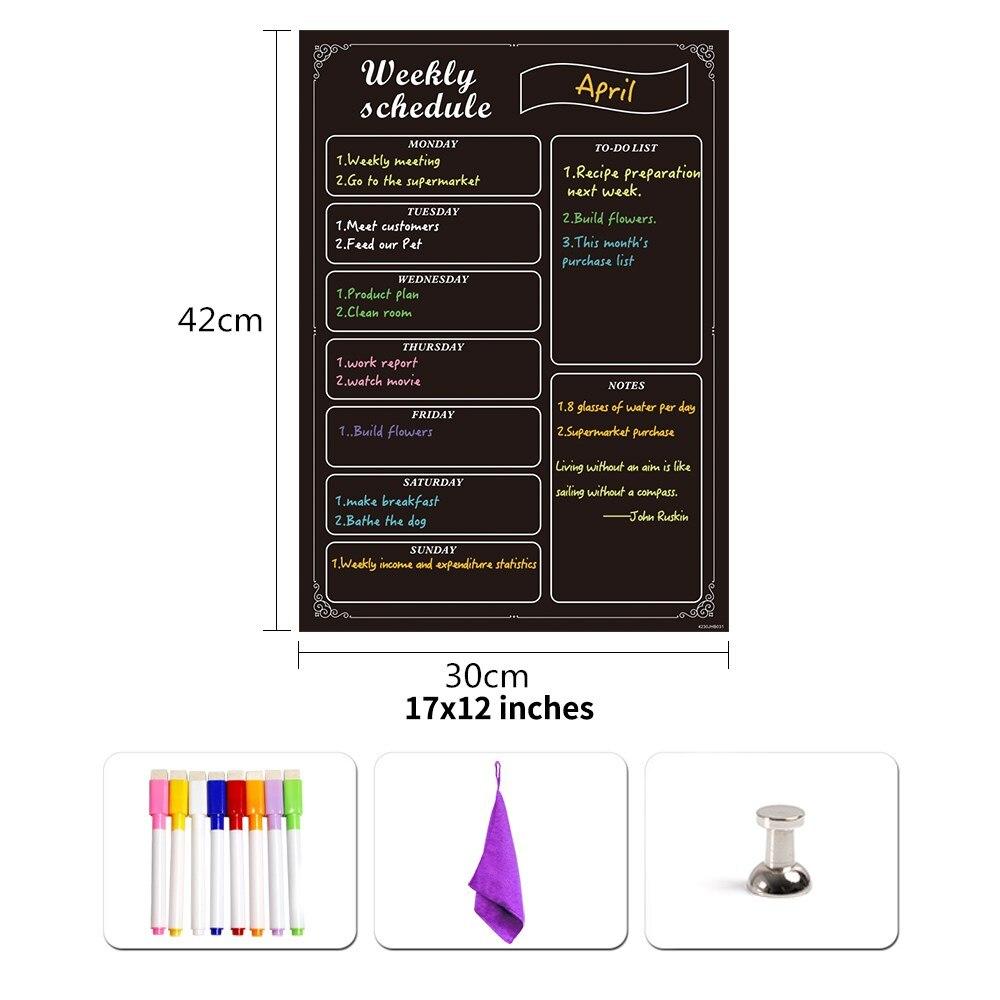 geladeira quadro etiqueta agenda semanal planejador 05