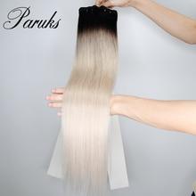 Straight Weave Hair-Bundle Weft Human-Hair Virgin Remy 16-24-Inch 1/3/4-brazilian Paruks