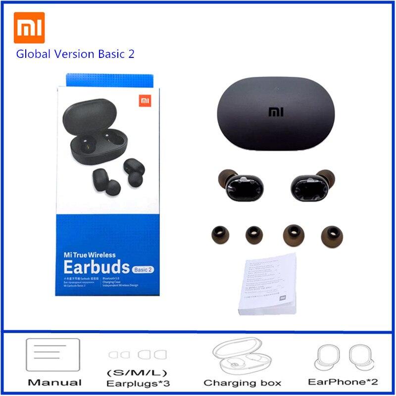 Глобальная версия Xiaomi Redmi Airdots 2 Наушники-вкладыши TWS беспроводной Bluetooth 5,0 наушники Mi беспроводные наушники Basic 2 автоссылки TWSEJ061LS 2
