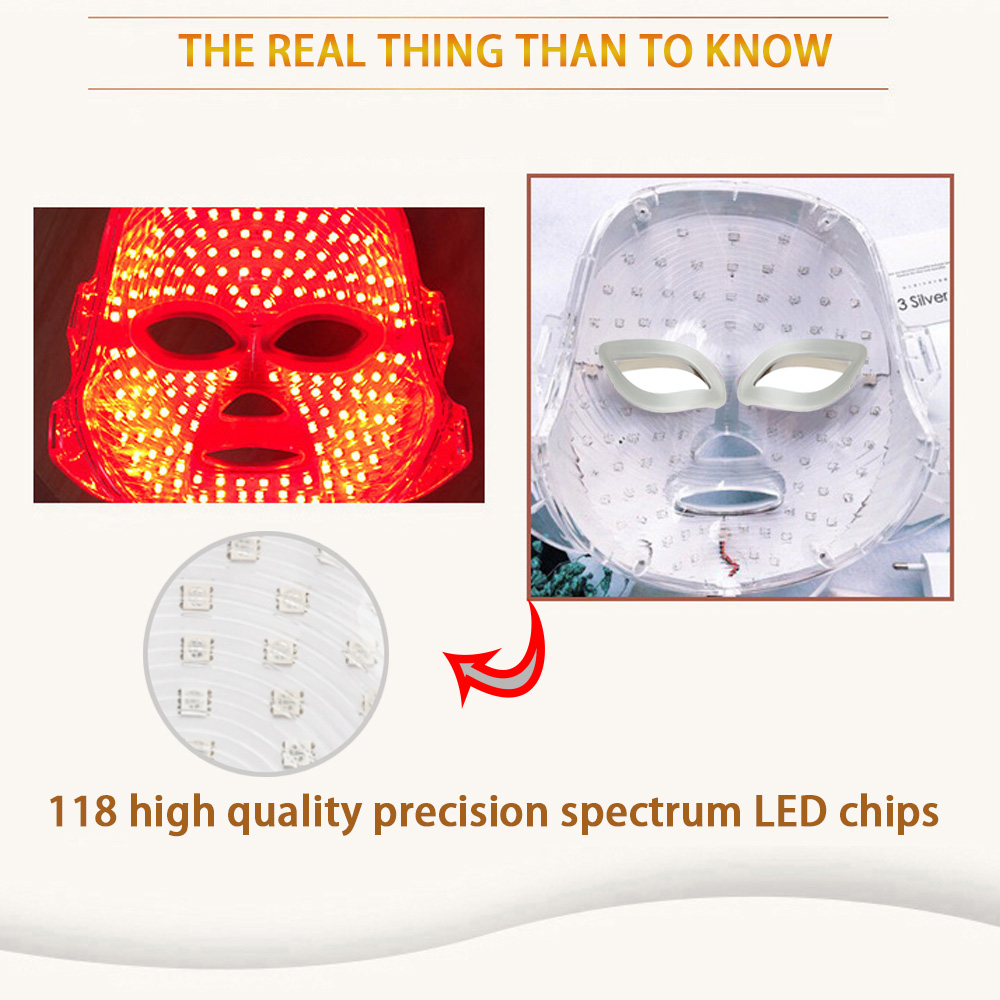 Image 4 - New Led Facial Mask Korean 7 Colors Photon Therapy Face Mask Machine Light Therapy Acne Led Mask skin care Beauty machine-in LED Mask from Beauty & Health