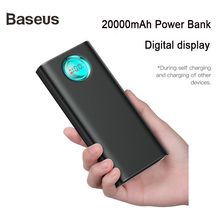 Baseus 20000mAh Power Bank 18W PD3.0   QC3.0 Fast Charger For Xiaomi Huawei iPhone X Portable Outdoor Charger Travel Power bank