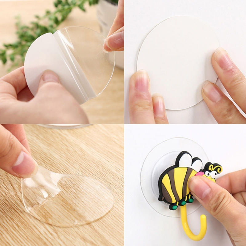 Silicone Double Sided Tape Sticker Suction Cup Sucker Auxiliary Strong Adhesive D08F