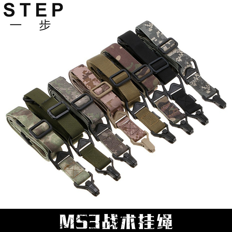 MS3 Multi-Mission Tactical With Multi-functional Sling Camera Straps Single Point Double-Point With Safe Rope 8-Color