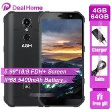 """AGM A9 IP68 JBL co branding 5.99 """"ekran 4GB RAM 64GB ROM JBL dostrojone głośniki Smartphone Android 8.1 5400mAh NFC OTG telefon komórkowy"""