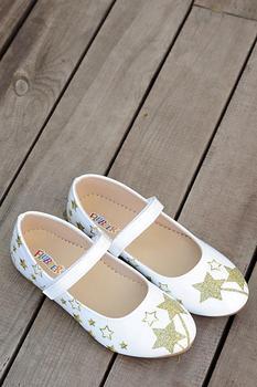 A26520-20BeyazAltın różowe dziecko Potin białe złote buty A26520-20 tanie i dobre opinie Pembe Potin TR (pochodzenie) CZTERY PORY ROKU Mężczyzna 3-6y