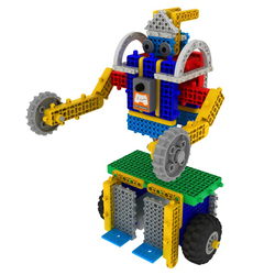 My DIY Robot Creative MRT New Kicky Colorful Robots Building Block Kit Assembly Educational Robot Toy For Beginner 4-7 Years Old