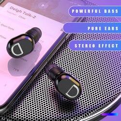 Nouveau Bluetooth 5.0 Mini dans l'oreille stéréo écouteur mains libres appel sans fil casque avec réduction de bruit Microphone unique écouteur