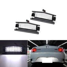 Luz LED de matrícula para Mazda MX 5 Miata 2016 Up, funciona con LED blanco de xenón 18 SMD