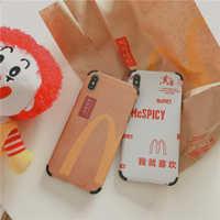Lustige Cartoon McDonald Clown Telefon Fall für iphone 11 Pro X XR XS Max 6 6s 7 8 8 plus nette McSPICY Kraft papier weichen abdeckung coque