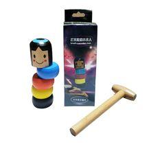Небьющийся деревянный человек волшебная игрушка immber Daruma Волшебные Трюки крупным планом реквизит для фокусов забавная игрушка аксессуар