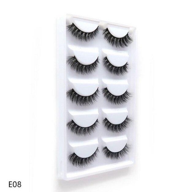 5 pairs natural false eyelashes fake lashes long makeup 3d mink lashes eyelash extension mink eyelashes for beauty 2