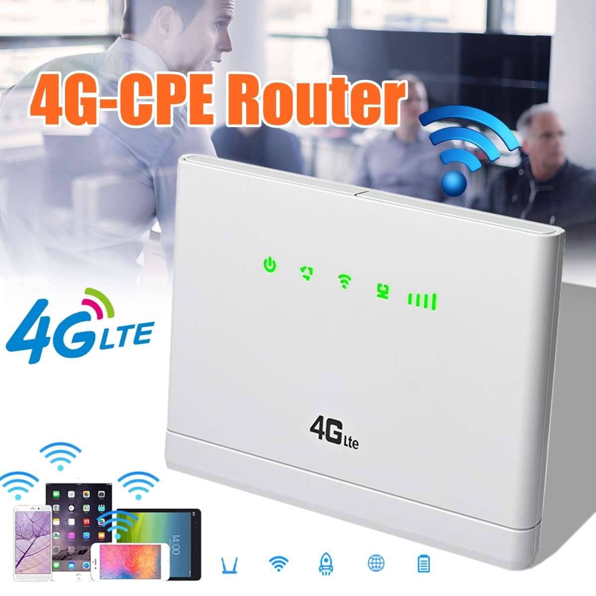 High Speed Dual Band Wireless Wifi Router With 3G 4G LTE Modem SIM Card Slot For Travel Business High Gain Antenna