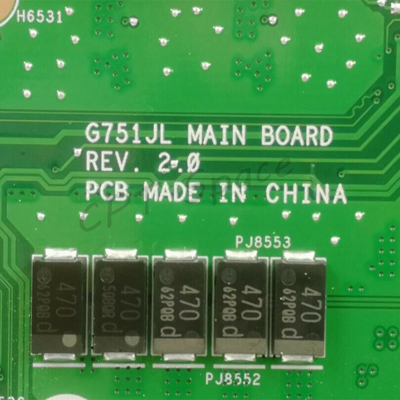 For ASUS G751J G751JL G751JY G751JT Motherboard W// i7-4720HQ GTX965M Mainboard