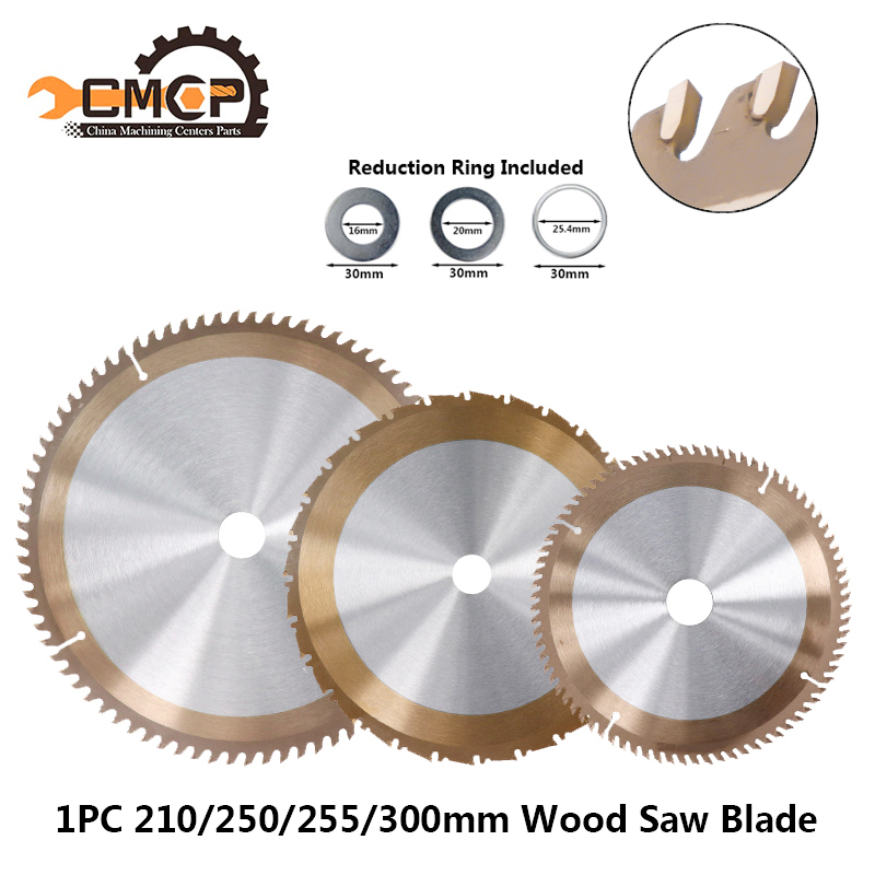 1pc TiCN Coated Woodworking Saw Blade 210/250mm 255/300mm TCT Cutting Disc Circular Saw Blade Saw Blades Cutting Wheel Discs