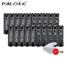 リチウム電池aaa,20個,1100mah,1.2v,単四電池,充電式,AAA