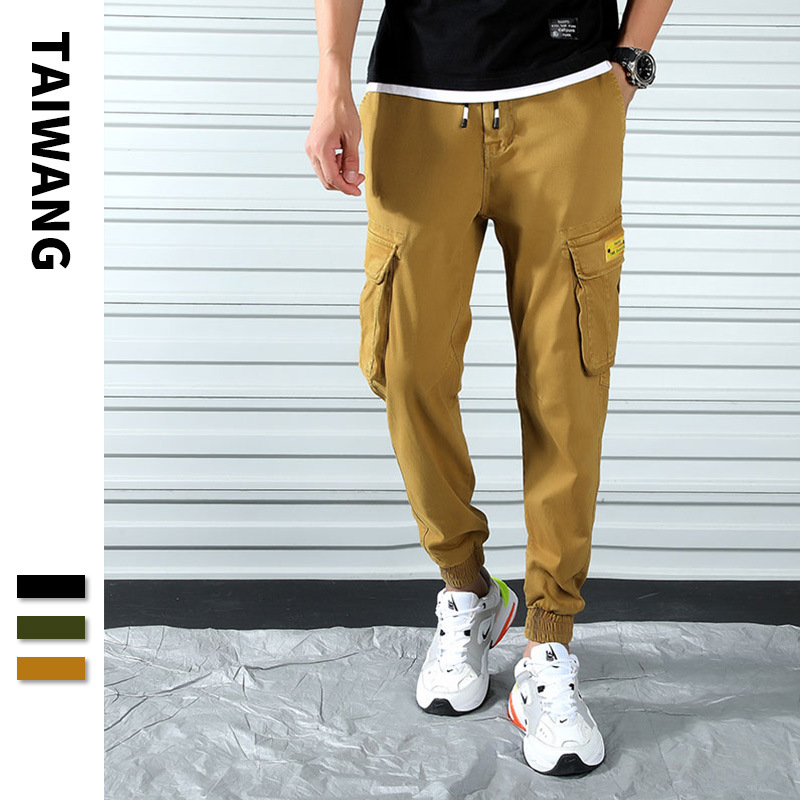 Manufacturers Wholesale 2019 Autumn Bib Overall Men's Popular Brand Loose Women's Men's Hip Hop Casual Pants Multi-pockets Trous