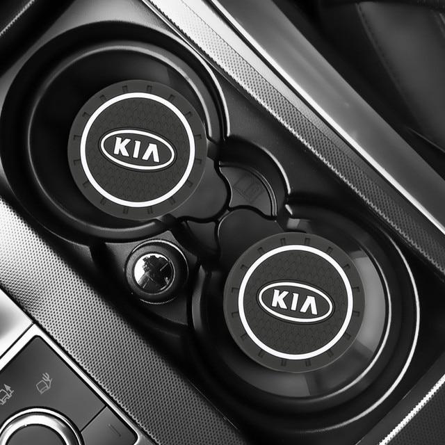 Tapis antidérapant pour voiture 2 pièces, accessoires pour voiture KIA sportage ceed kia sorento 2017 2018