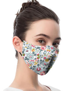 Masks PM2.5-FILTER Mouth-Muffle Flower-Print Bacteria Animal Washable Adult Cartoon Anti-Dust