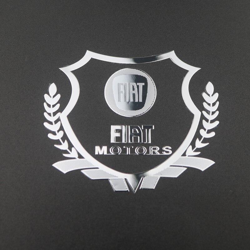 2Pcs Excellent 3D Metal Car Sticker Emblem Badge Case For Fiat 500 Punto Bravo Stilo Panda Car Styling