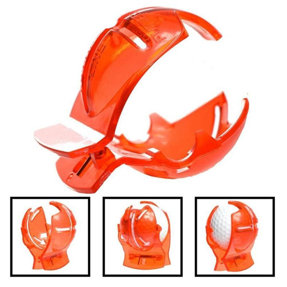 Golf Line Drawing Golf Line Clamp Golf Mark Template Ball Drawing Line Transparent Equipment Scribe Golf Tool Shell R3M2