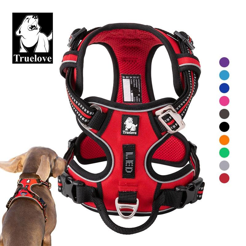 Truelove Anteriore Nylon Cablaggio Del Cane Non Tirare Maglia Morbido Regolabile Imbracatura di Sicurezza Per Il Cane Piccola Grande Corsa E Jogging Formazione Francese Bulldog 1