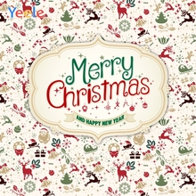 Yeele Merry Christmas Photocall Party Decor Pattern Photography Backdrops Personalized Photographic Backgrounds For Photo Studio