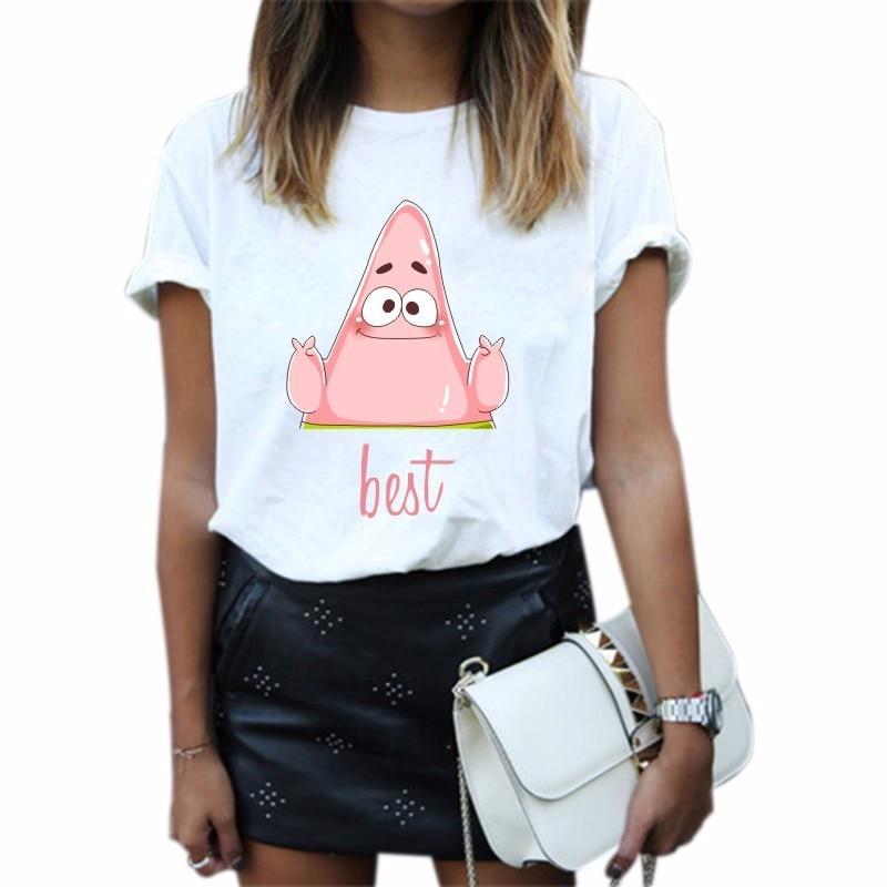 Summer Women T Shirt BEST FRIENDS Letter Print Friends T-shirt Casual Short Sleeve Tops Tee O Neck Female Tops