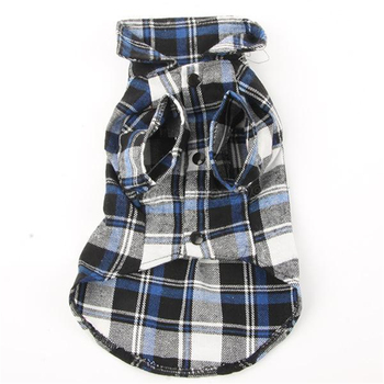 Dog Pet Plaids Shirt Dogs Festival Clothing For Clothes Cat Grid Spring Autumn T-Shirt Dog Costume Pet