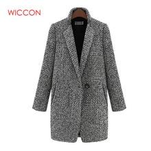 Women New 2020 Design Spring Winter Ladies Coat Gray Wool Coat Long Brand Woolen Trench