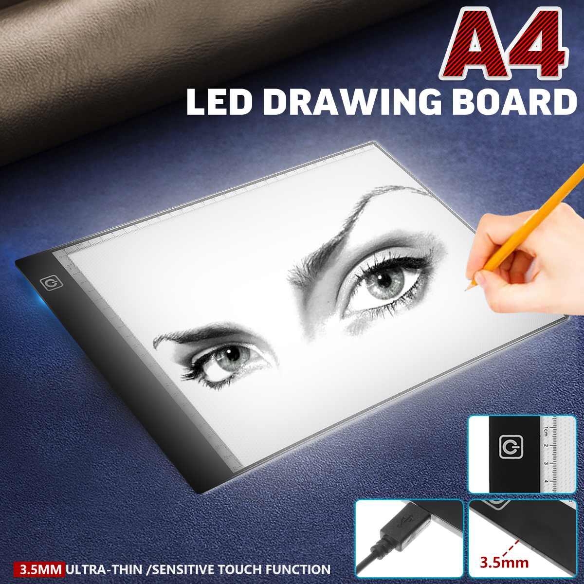 A4 led luz almofada led desenho placa cópia almofada artista caixa de luz mesa traçando desenho placa almofada pintura diamante bordado ferramentas