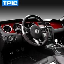 Для Ford Mustang 2009-2013 Автомобильные наклейки из углеродного волокна приборная панель внутренняя отделка Литые декоративные полосы