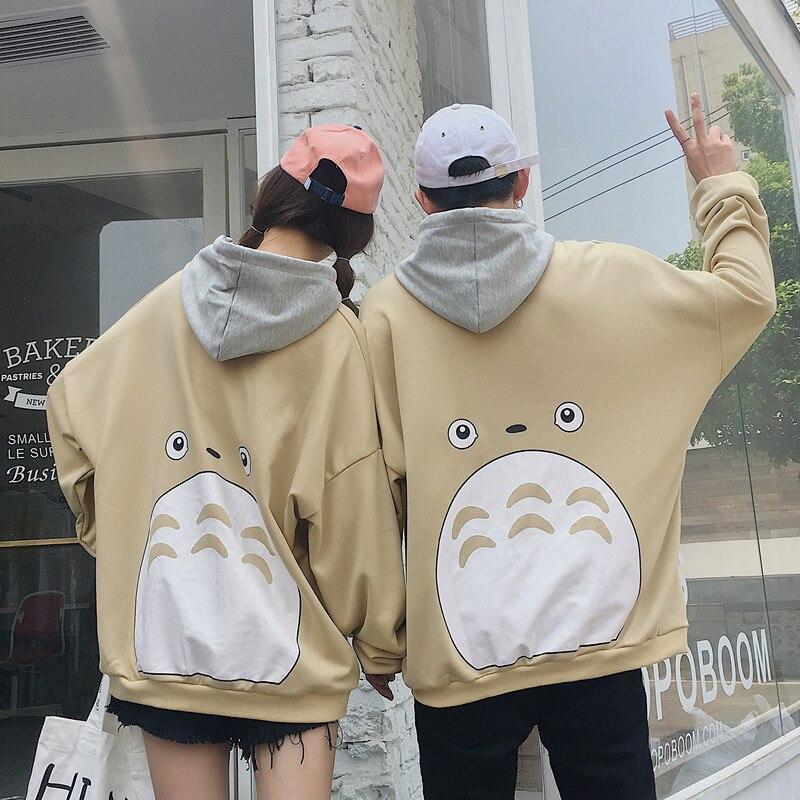 New Totoro Kawaii Hoodie Women Ctue Loose Overall Sweatshirt Plus Size Harajuku Hoody Aesthetic Hoodies Feminine Autumn 2019 -17