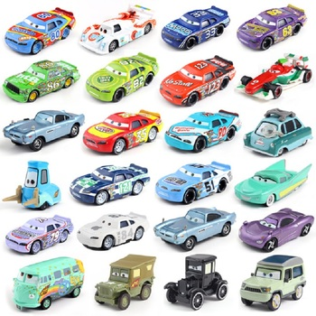 Disney Pixar Car 3 Lightning McQueen Racing Family Family 39 Jackson Storm Ramirez 1:55 Die Cast Metal Alloy Children's Toy Car image